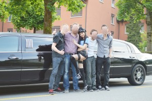 Polterabend Stripperin Limousine