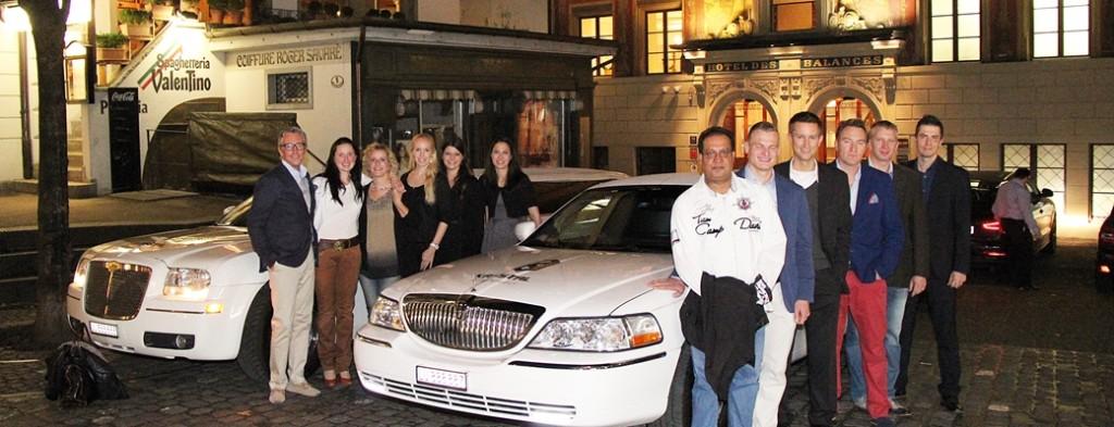 Geschäftsessen mit der Limousine