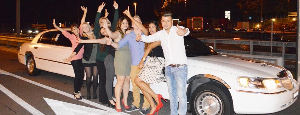 Limousinenfahrt zum Club