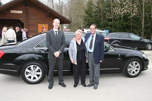 70 Geburtstag Vreni B von Arx April 2014 mit Mercedes