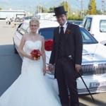 Limo als Hochzeitsgeschenk von Christine im September 14