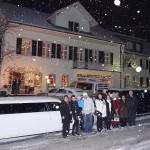 Stretch Limousine im Winter