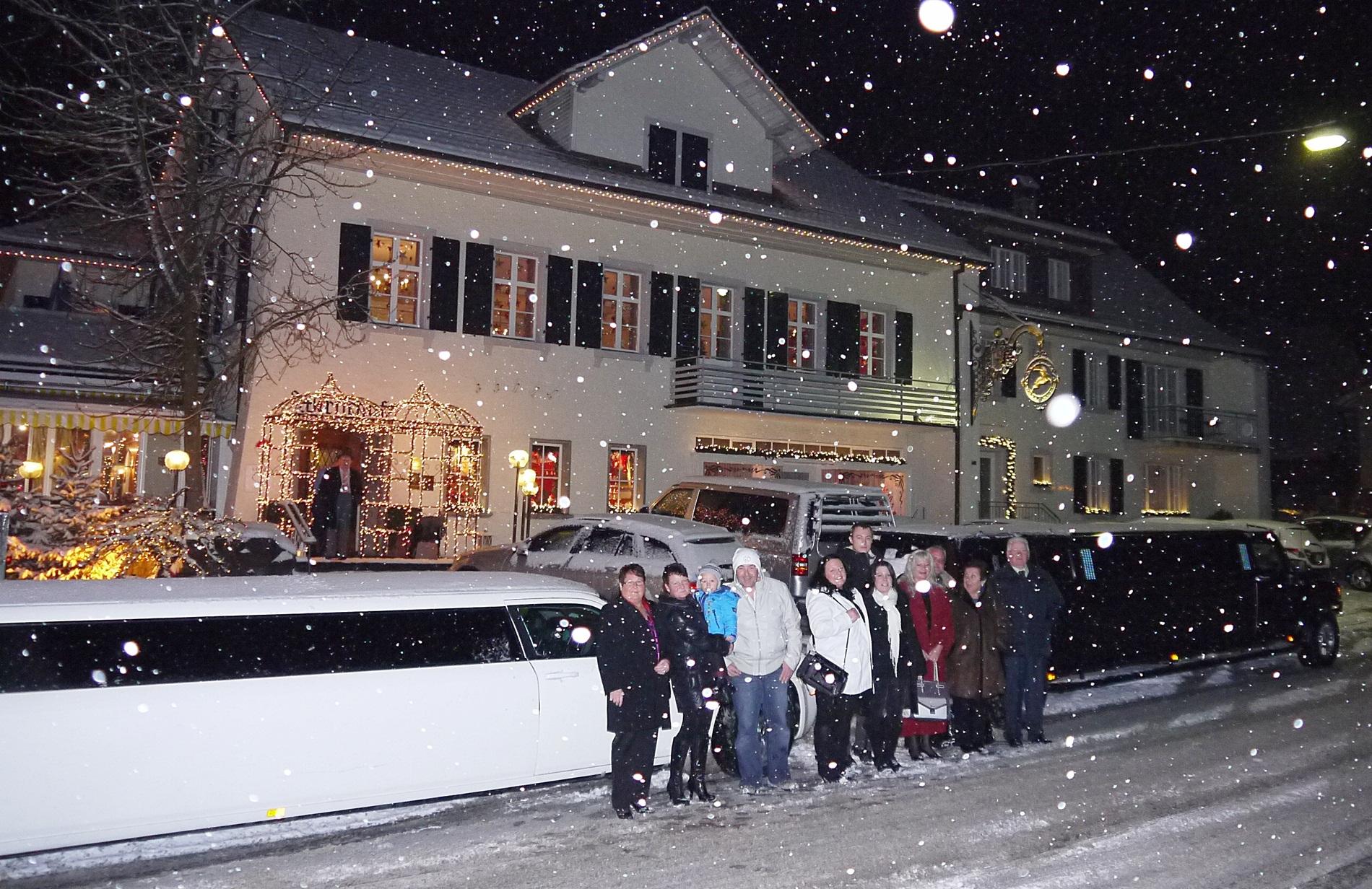 Stretch Limousine im Winter