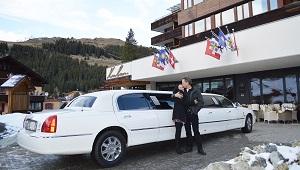 Mit Lincoln Limo nach Arosa