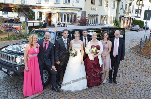 Limousine Hochzeitskleiderball Luzern