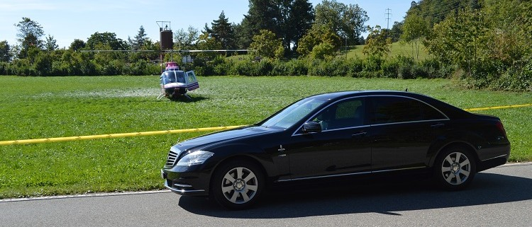 Chauffeur Limo und Helikopter Andre