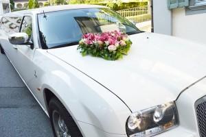 Hochzeit Auto Deko Limousine