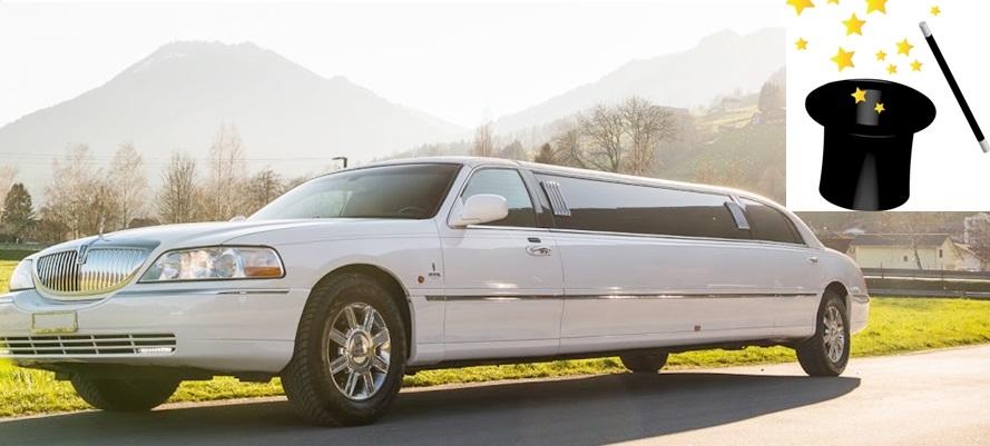 Limousine mit Zauberer