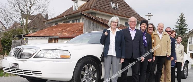 Limousine zum achtzigsten für Helene