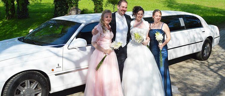 Daniela und Flavio heiraten Stretchlimo