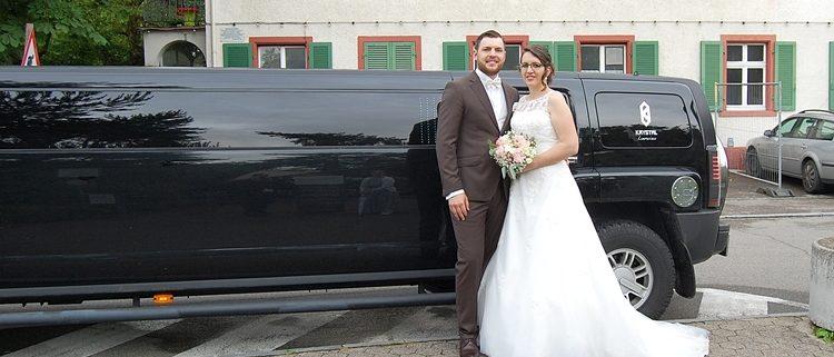 Hochzeits Hummer Brautpaar
