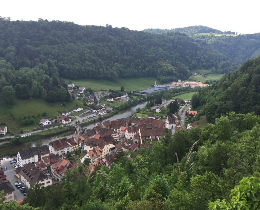 Jura St. Ursanne historische Stadt