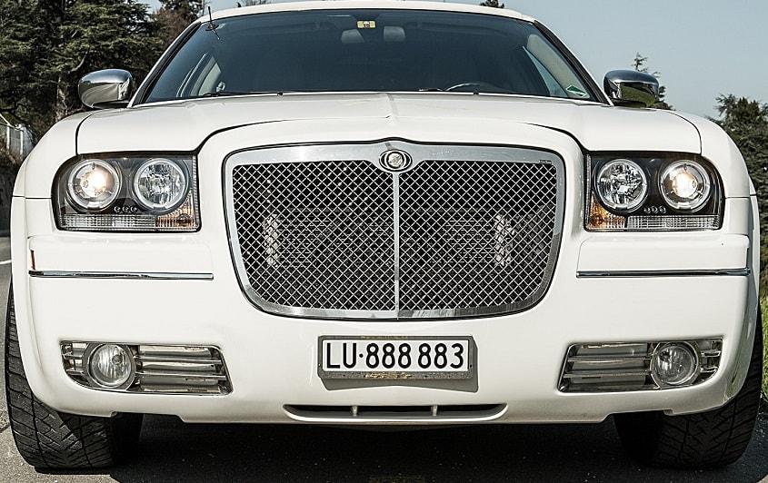 Limousine Luzern mit LU Autonummer