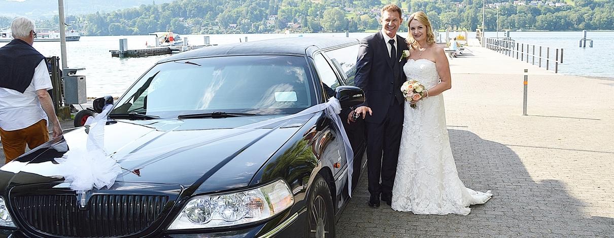 Lincoln Stretch Schwarz Hochzeit Limo