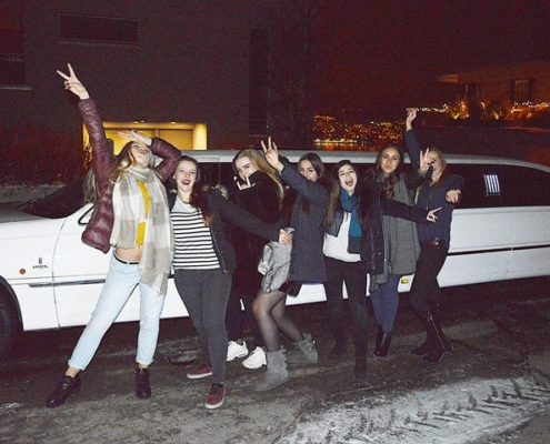 Nailas Geburtstag Limousine in ZH