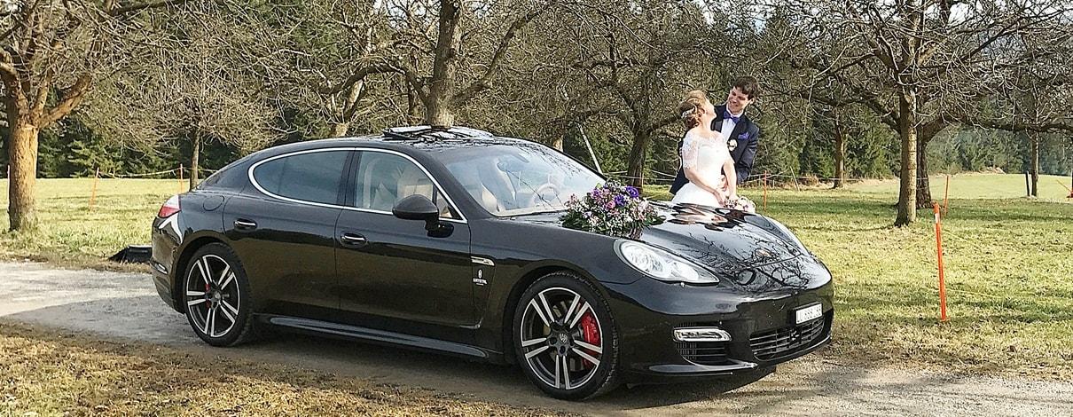 Porsche Limousine Hochzeit