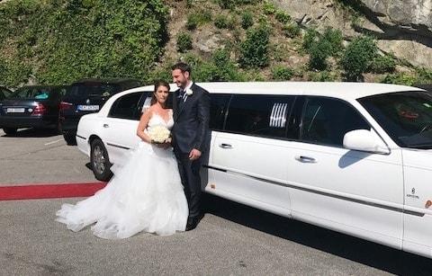 Giorgioas und Jessicas Hochzeitslimo