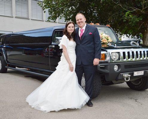 Manuel und Astrids Hummer Hochzeit