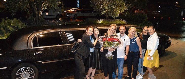 Shpresas Geburtstag Limousine in Basel
