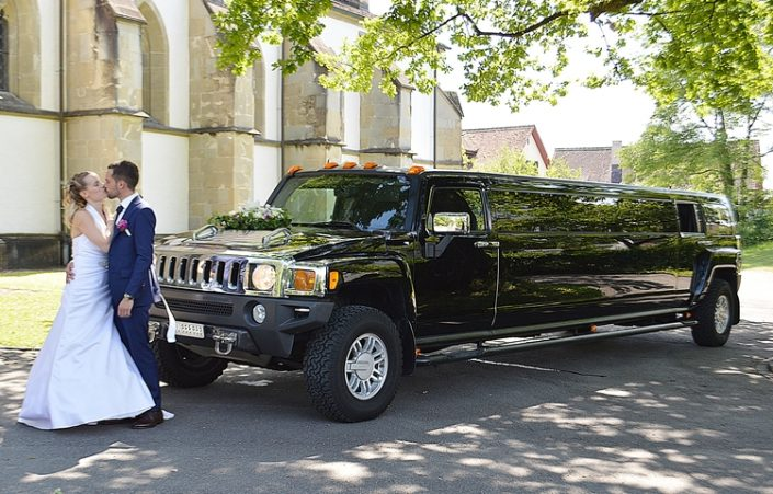 Eldi und Lindas Hochzeit Hummer Limo