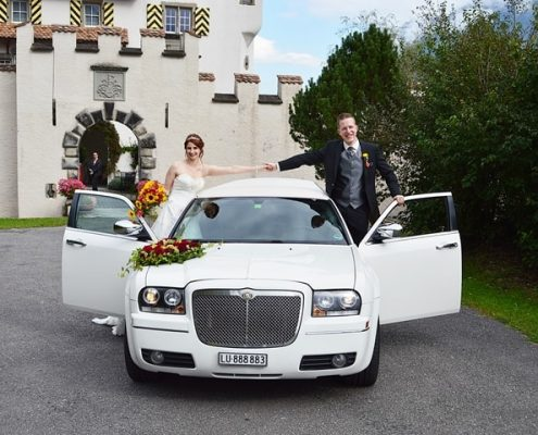 Chrysler Limo für Jasmin und Marc