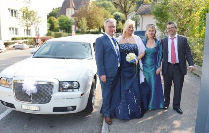 Esther und Rolands Hochzeitslimousine