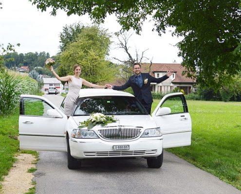 Hochzeitslimo Rheinfelden für das Brautpaar
