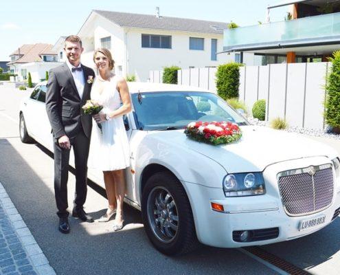 Andrea und Patricks Hochzeitslimo Fahrt