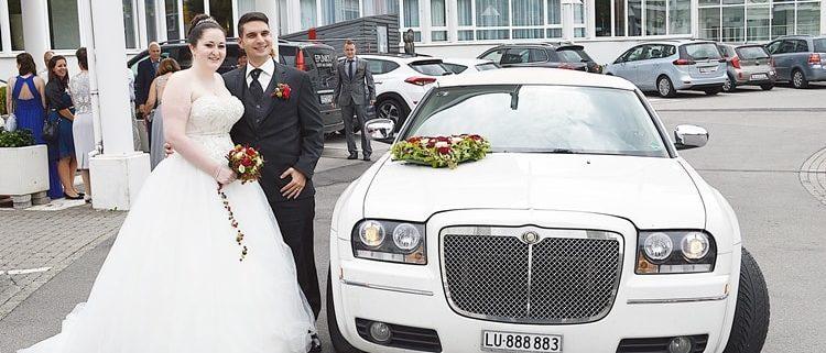 Hochzeit im AG mit Chrysler 300 Limo