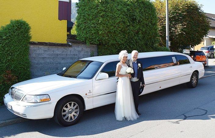 Hochzeit in Kriens mit Lincoln Limo