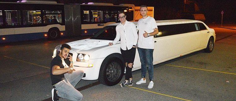Damians Heimfahrt mit Chrysler Stretchlimo