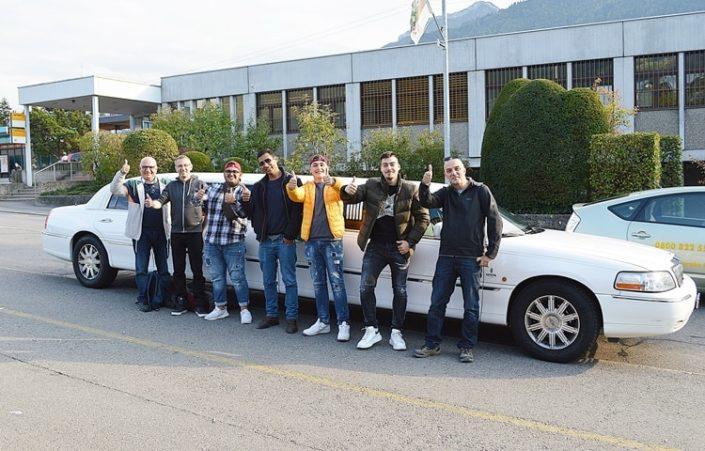Gennaros Team Ausflug mit Stretchlimousine