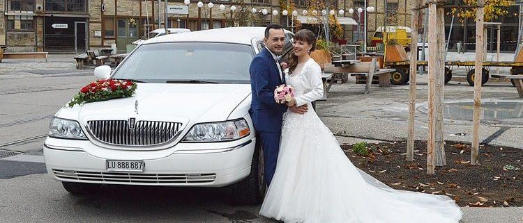 Sandra und Sahins Hochzeitslimousine