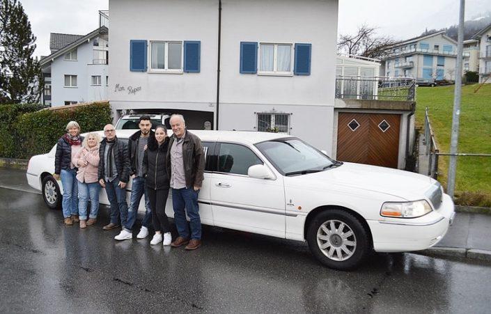 Celines 18 Geburtstag Rundfahrt mit Limousine