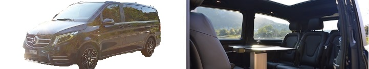 Mercedes V Klasse VIP VAN Menu