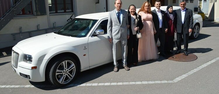 Isabelle & Murats Hochzeit Stretchlimo