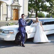 Jasmins & Carlos Hochzeit-Stretchlimousine
