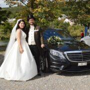 Hochzeit Mercedes Limousine für Dardana & Pascal