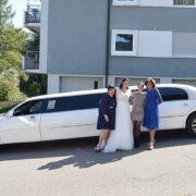 Ingrid & Tristans Hochzeit Stretchlimo