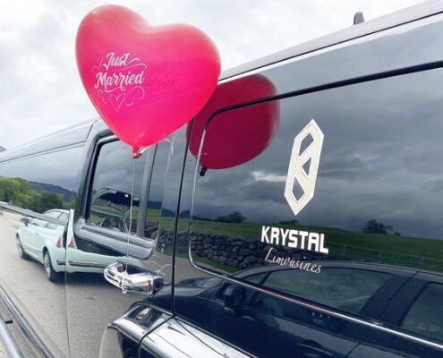 Hummer Hochzeit Limousine Herz Ballon