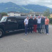 Perfekte Fahrt mit HUMMER Limo nach Vaduz