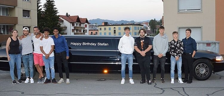 Stefans Limousine zum Geburtstag nach Rapperswil