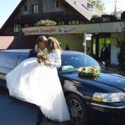 Janine und Markus Stretchlimo zur Hochzeit