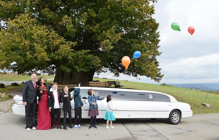 Steffi und Marcs Hochzeit Limousine