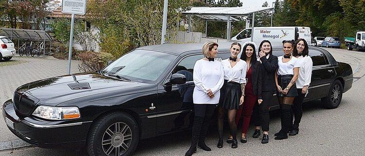 Valerias Limousine zum Polterabend