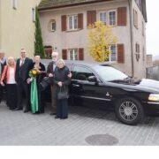 Hochzeit Fahrt mit Limo nach Klingnau
