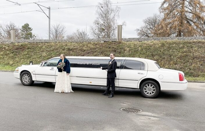 Hochzeitslimousine für Pascal und Marie