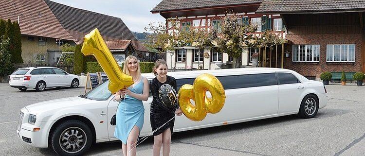 Geburtstag mit Chrysler Limo für Sienna
