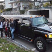 Manuels Geburtstag Fahrt mit der Hummer Limo