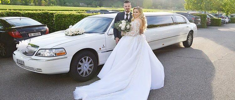 Roger und Stefanies Hochzeit Limousine